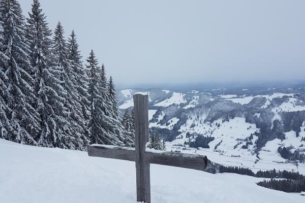 Gipfel im Winter