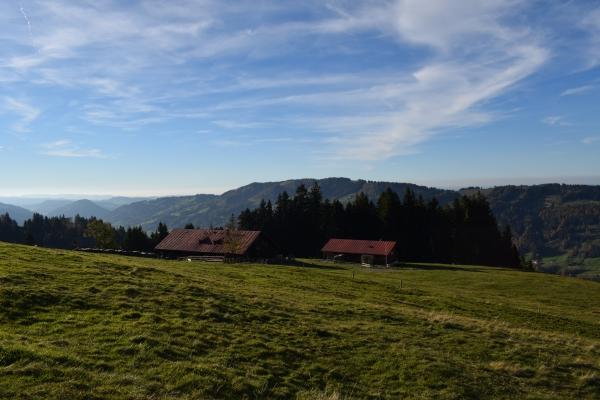 Hütte vom Berg